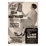 Ken Maynard 1927 vintage exhibitor advertisement Greeting Card