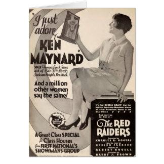 Ken Maynard 1927 vintage exhibitor advertisement Card