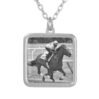 Ken McPeek Workouts at Saratoga Silver Plated Necklace