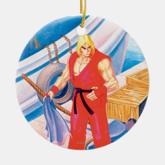 Ken on Dock Ceramic Ornament