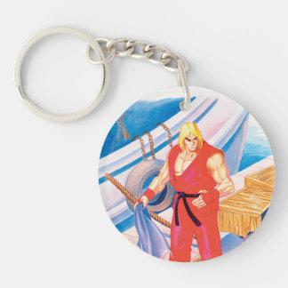 Ken on Dock Keychain