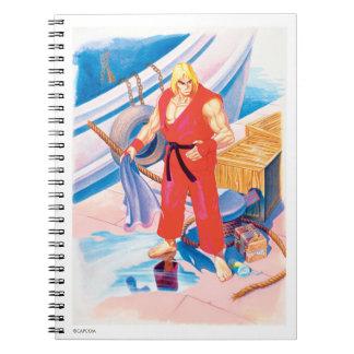 Ken on Dock Spiral Notebook