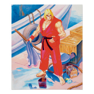 Ken on Dock Poster