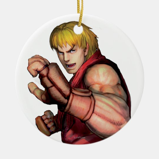 Ken Ready to Fight Ceramic Ornament