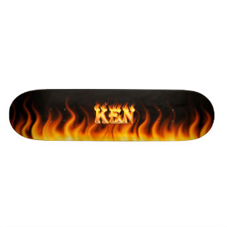 Ken skateboard fire and flames design.