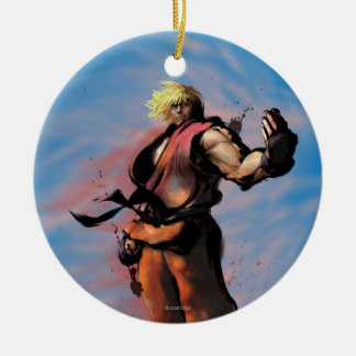 Ken Taunt Double-Sided Ceramic Round Christmas Ornament