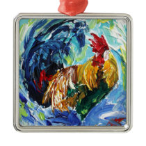 Ken the Rooster. Love chickens love these special Metal Ornament