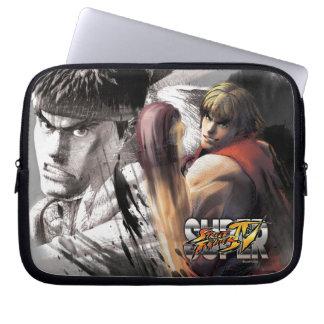 Ken Vs. Ryu Laptop Sleeves