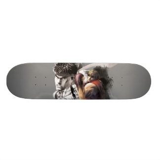 Ken Vs. Ryu Skateboard Deck