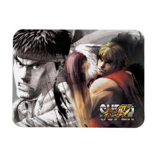 Ken Vs. Ryu Vinyl Magnets