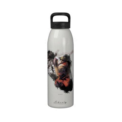 Ken Vs. Ryu Water Bottle