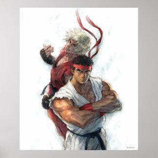 Ken y Ryu Póster