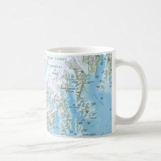 Kenai Fjords map mug