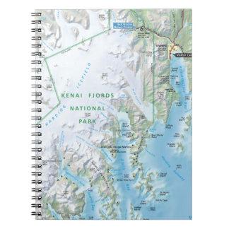 Kenai Fjords map notebook