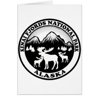 Kenai Fjords National Park Alaska moose circle Card