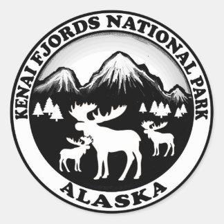 Kenai Fjords National Park Alaska moose circle Classic Round Sticker
