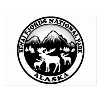 Kenai Fjords National Park Alaska moose circle Postcard