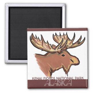 Kenai Fjords National Park Alaska moose magnet