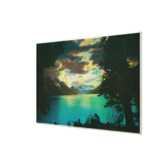 Kenai Lake, Alaska with Storm Gathering Canvas Print