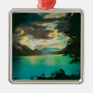 Kenai Lake, Alaska with Storm Gathering Christmas Ornament