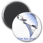 KENAI RIVER  KING SALMON REFRIGERATOR MAGNET