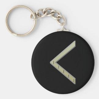 Kenaz Rune gold Basic Round Button Keychain