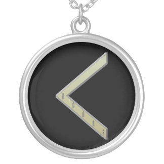 Kenaz Rune gold Silver Plated Necklace