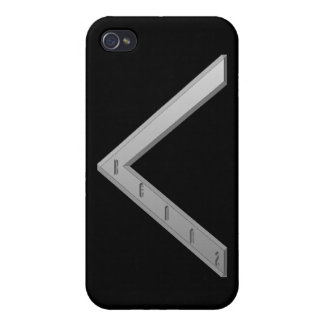 Kenaz Rune grey Covers For iPhone 4