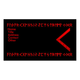 Kenaz Rune red Double-Sided Standard Business Cards (Pack Of 100)