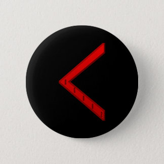 Kenaz Rune red Button