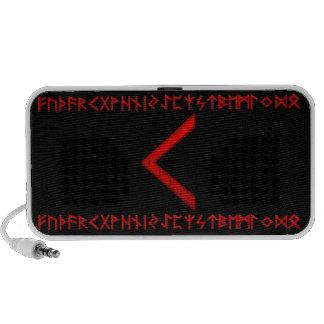Kenaz Rune red Travelling Speakers