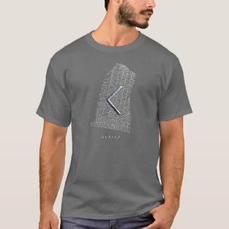 Kenaz rune symbol on west Rok runestone T-Shirt