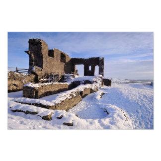 Kendal Castle snowy landscape Photograph