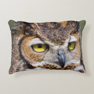 Kendall County, Texas. Great Horned Owl Decorative Pillow