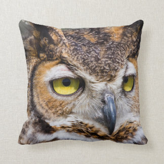 Kendall County, Texas. Great Horned Owl Throw Pillow