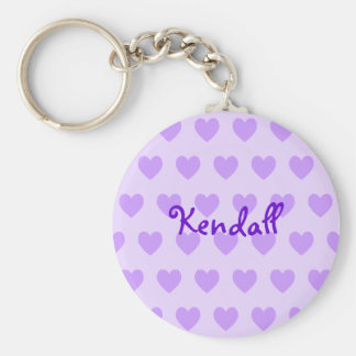 Kendall in Purple Basic Round Button Keychain