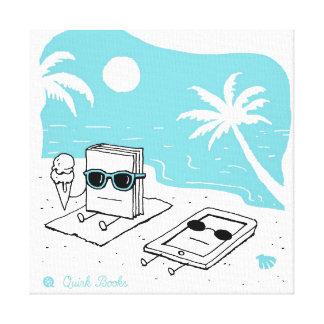 Kendall & Paige - Beach Canvas Print