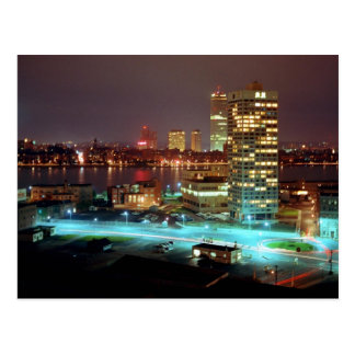 Kendall Square and Boston Skyline, 1967 Postcard