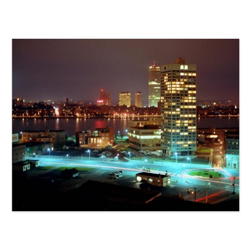 Kendall Square and Boston Skyline, 1967 Post Card