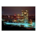 Kendall Square and Boston Skyline, 1967 Poster
