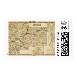 Kendall Will Grundy and Cook counties Postage Stamp
