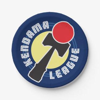 Kendama League Paper Plate