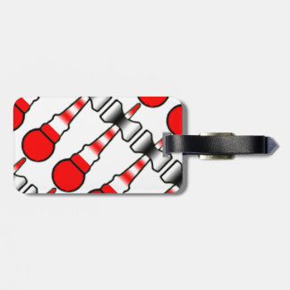 Kendama Red, White, and Black Lighthouse Bag Tag
