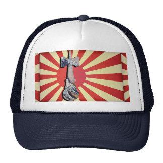 Kendama Wave Lighthouse with Vintage Japan Flag Mesh Hats