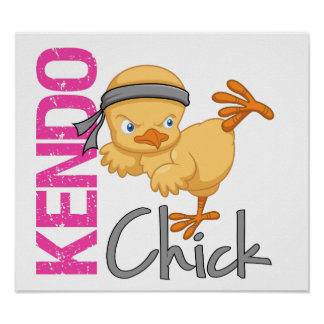 Kendo Chick Print