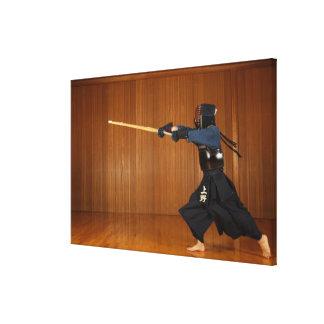 Kendo Fencer Practicing Canvas Print