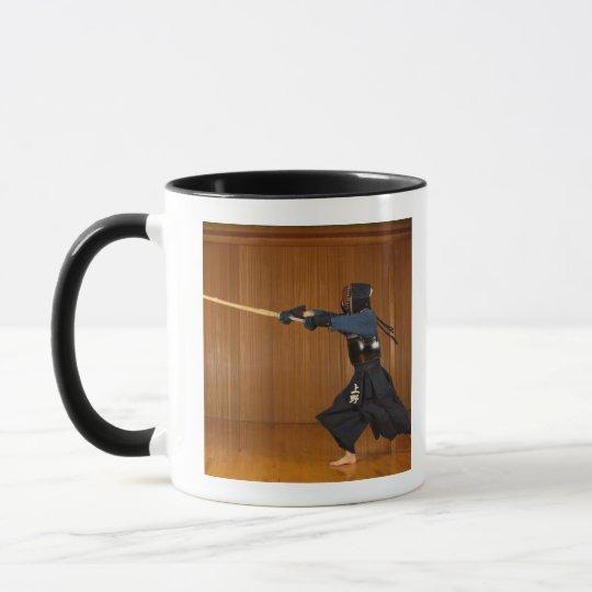Kendo Fencer Practicing Mug