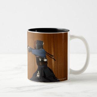 Kendo Fencer Practicing Coffee Mug