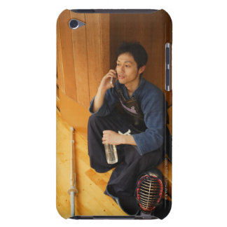 Kendo Fencer Talking On Mobile Phone Barely There iPod Cases