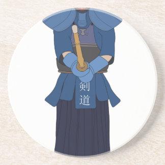 Kendo Fencing Sandstone Coaster